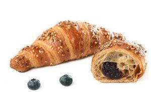 croissant vegan al farro e semi di mirtillo per pronto forno dolcelinea